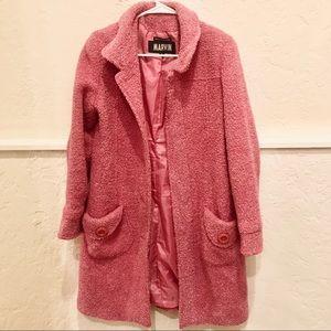 Pink Vintage Wool Duster Coat